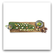 Sota sushi har en vegansk menu og meget andet vegansk på kortet. (Banegårdspladsen 2. 8000 Aarhu C.)