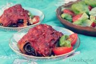 Rullet lasagne med aubergine og pinjekernecreme ♡