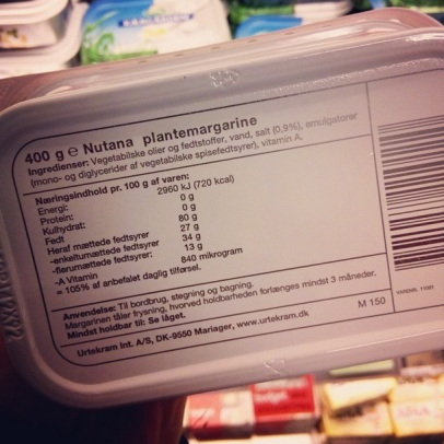 Nutana plantemargarine - ingrediensliste ♡