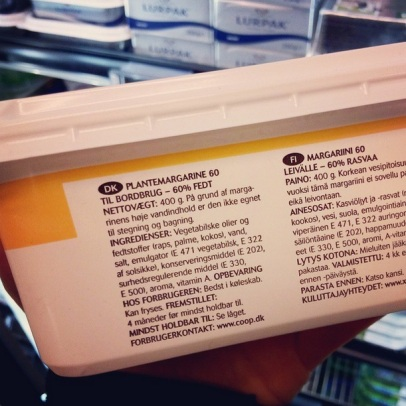 X-tra plantemargarine (Ingrediensliste) ♡