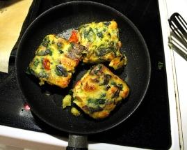 Omelet med spinat, tomat og butterbeans ♡
