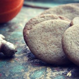 Sprøde småkager med ingefær ♡