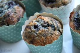 Blåbærmuffins med banan og blå birkes ♡
